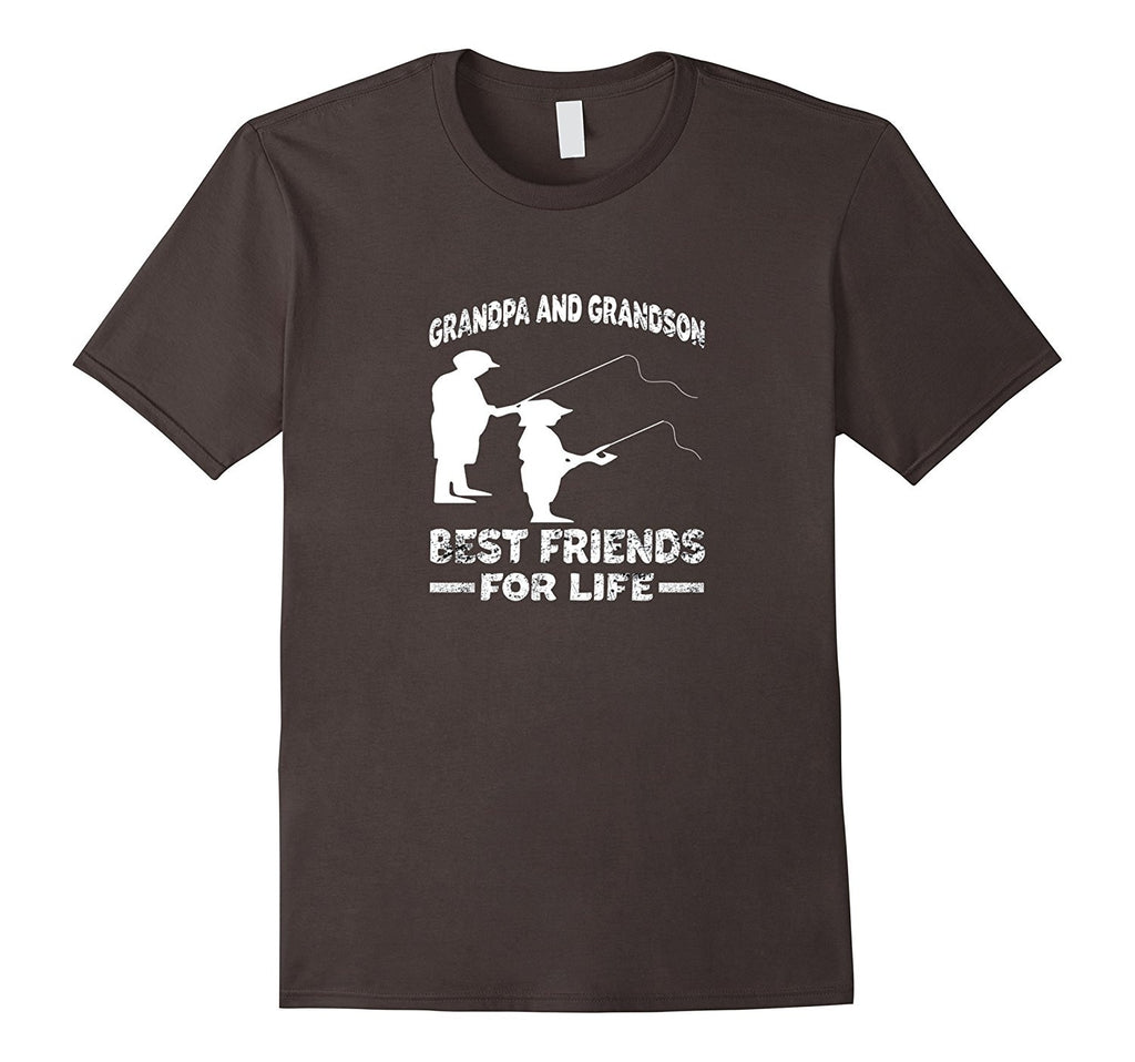 Grandpa And Grandson Best Friends For Life Fishing Shirt.