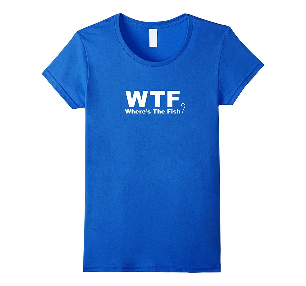 WTF Shirt - Where's The Fish Shirt- Funny Fishing T-Shirt