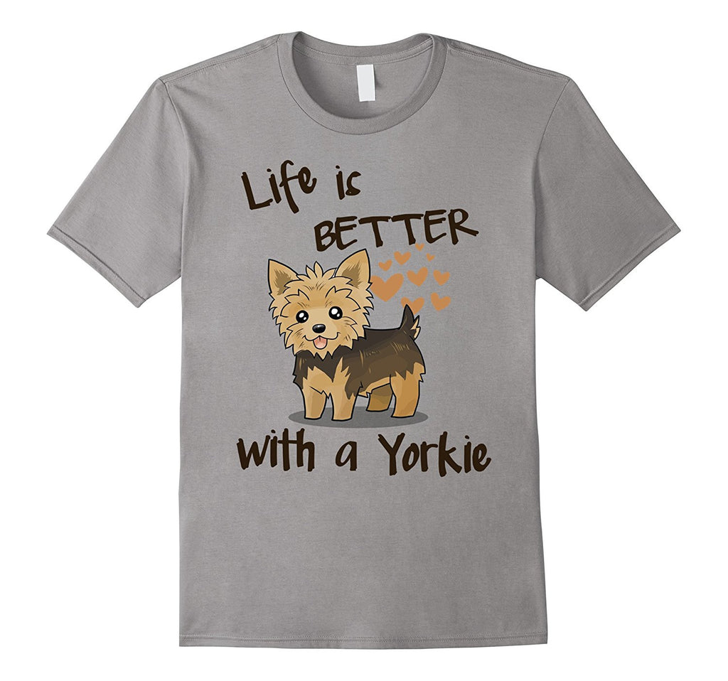 Yorkie T-shirt - Life is better with a Yorkie