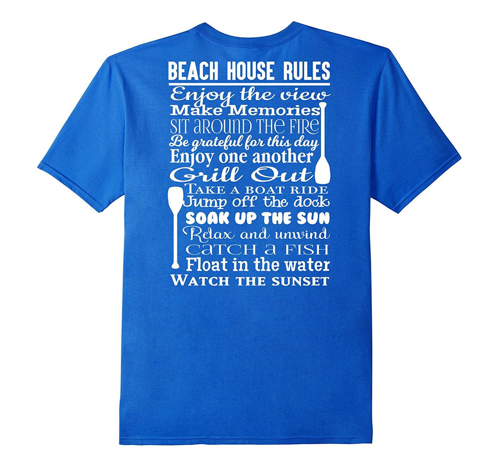 FUNNY BEACH HOUSE CAMPING RULES T SHIRT I LOVE BEACH CAMPING