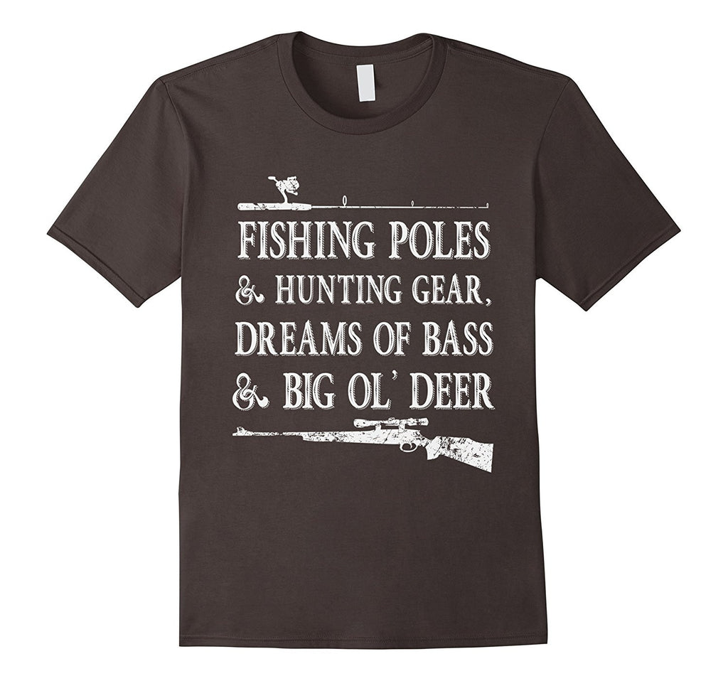Fishing & Hunting T Shirt 2- Funny Father's Day Gift for Dad