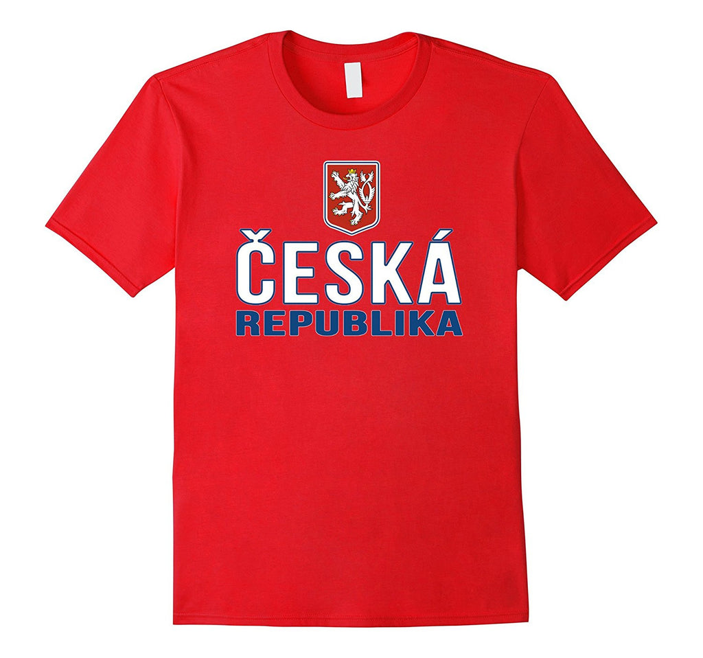 CZECH REPUBLIC T-shirt 2016 2017 Czech Flag Coat of Arms Tee