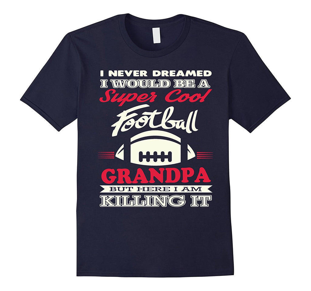 Super Cool Football Grandpa T-Shirt
