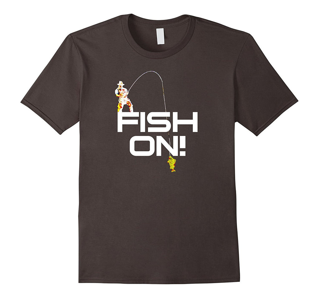 Fish On Shirts: Fishing Fisherman Catching Bass Lucky Shirt