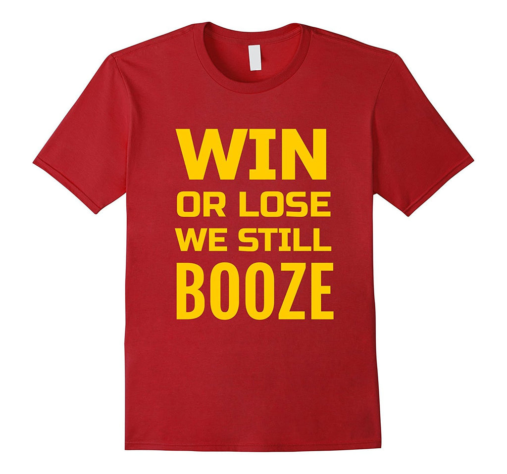 funny Tailgate T shirt in Cardinal and Gold