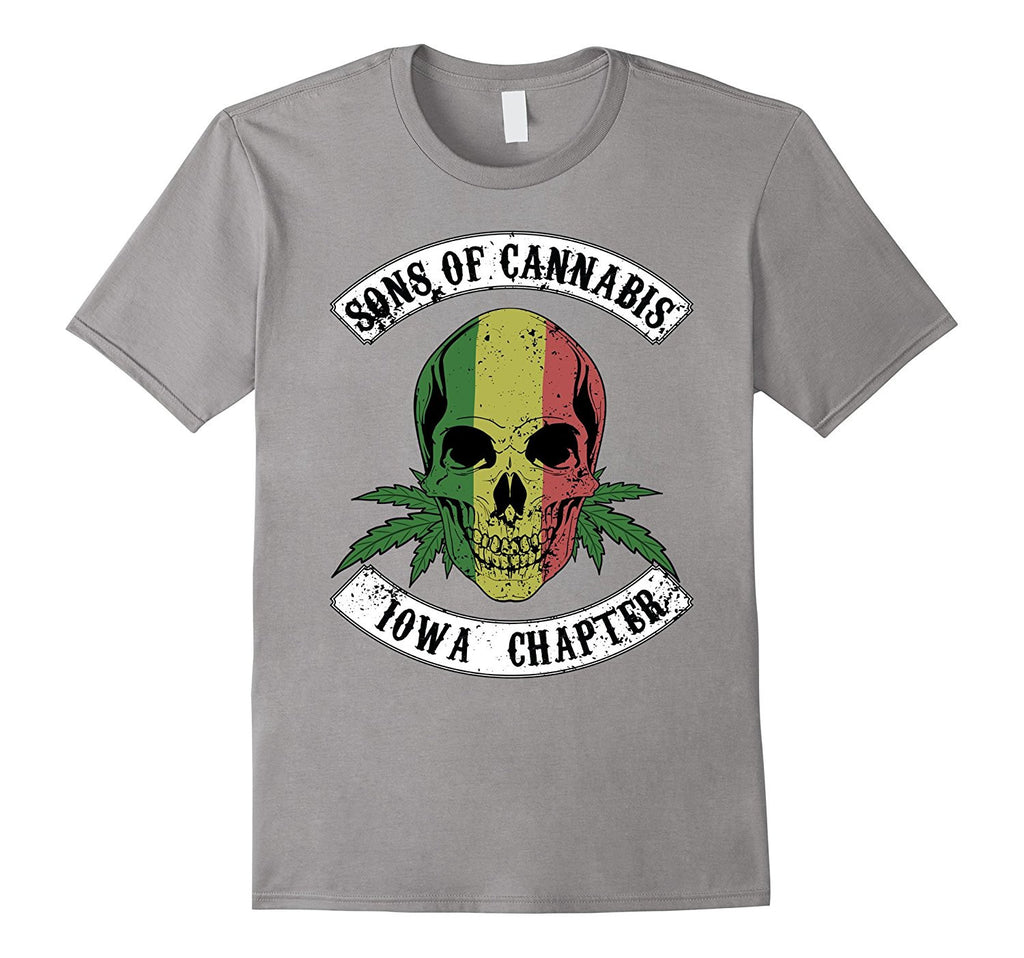 SOC - Iowa (All States Available) Biker Marijuana Tshirt