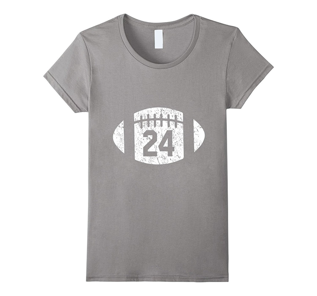 Football Player 24 T Shirt Distressed Look