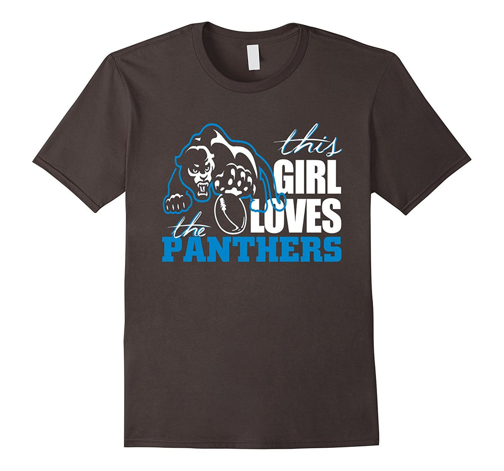 Football Sports Gear This Girl Loves the Panthers T-Shirt