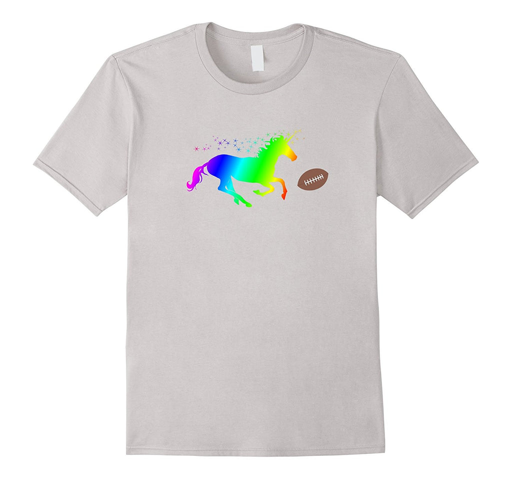 Funny Fantasy Football Shirt with Rainbow Unicorn Playing