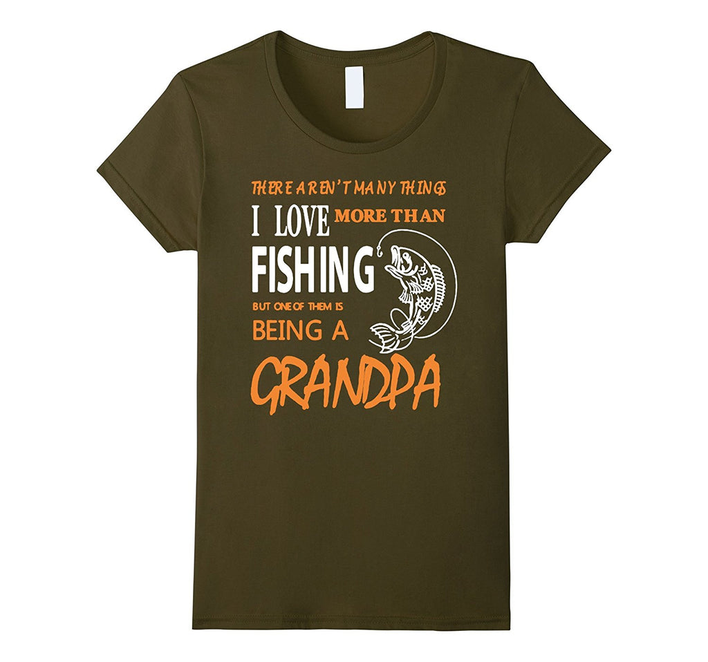 Funny Fishing Being A Grandpa T Shirt