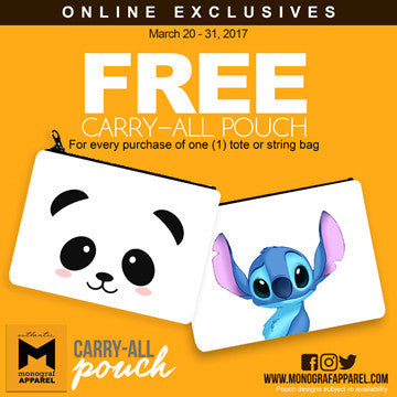 ONLINE EXCLUSIVES: Free Carry-All Pouch until Mar 31