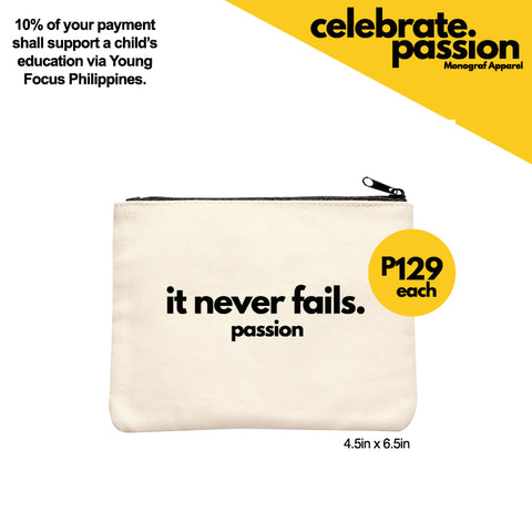 Celebrate Passion Pouch - It Never Fails