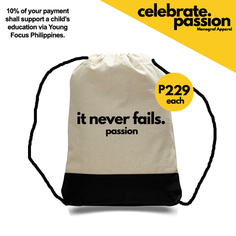 Celebrate Passion String Bag - It Never Fails