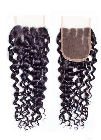 BVH Virgin Indian Remy Wavy Closure Collection