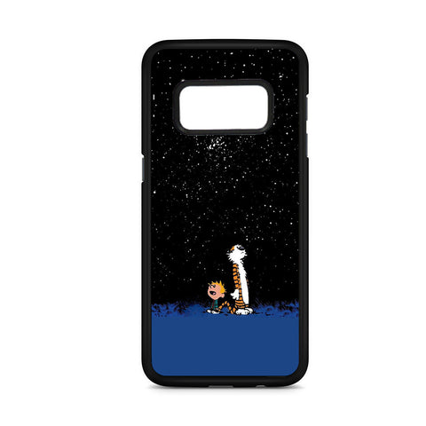 Calvin And Hobbes Starry Night Samsung Galaxy S8 Case