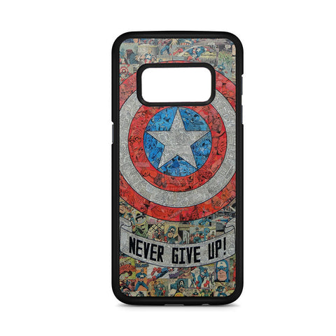 Captain Merica Never Give Up Samsung Galaxy S8 Case