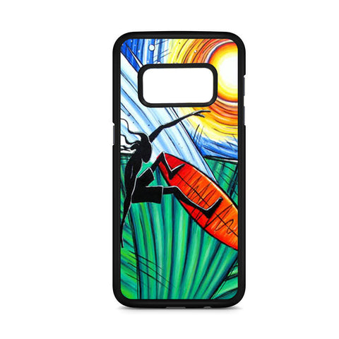 Abstract Art Surfing Samsung Galaxy S8 Case
