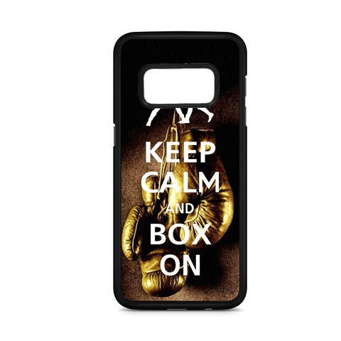 Keep Calm And Box On Samsung Galaxy S8 Case