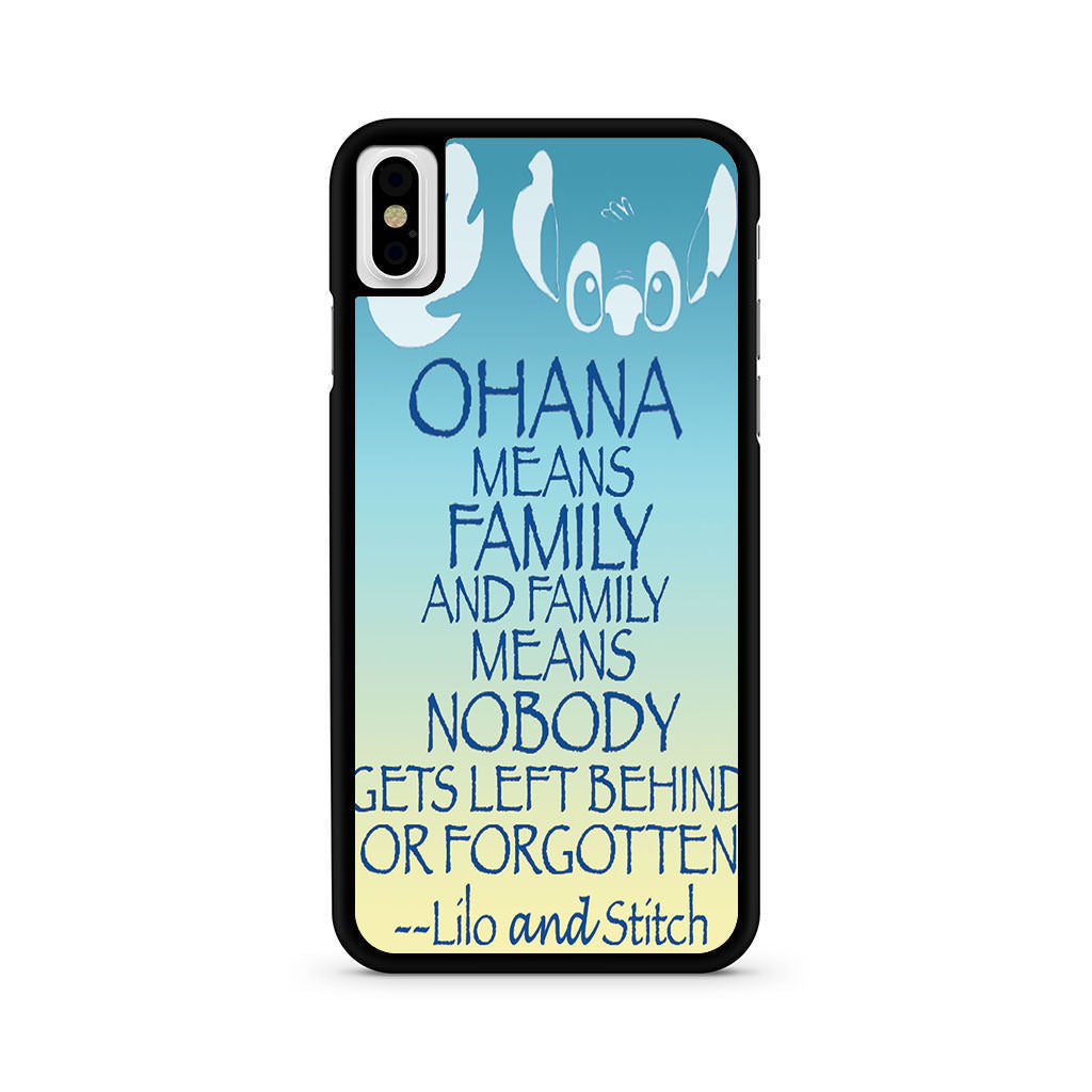Lilo And Stitch Ohana Quote Iphone X Case – Comerch