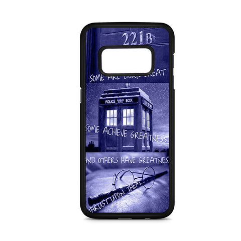 Sherlock And Tardis Quote Samsung Galaxy S8 Case