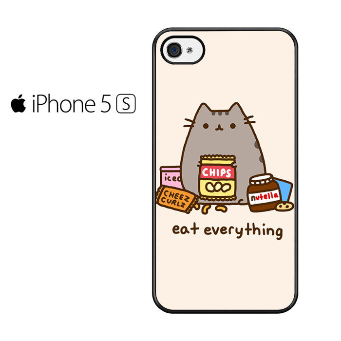 buy online dae72 29179 Pusheen The Cat Eat Every Thing Iphone 5 Iphone 5S Iphone SE Case