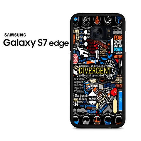Colorful Divergent Quotes Samsung Galaxy S7 Edge Case