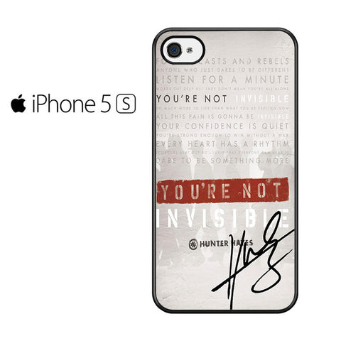 Invisible Hunter Hayes Lyric Quotes With Signature Iphone 5 Iphone 5S Iphone SE Case