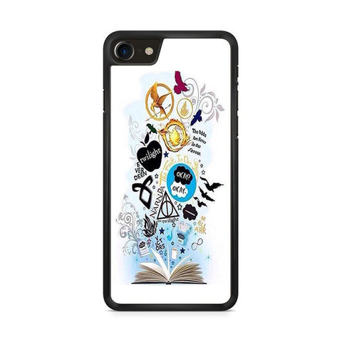 Throne Of Glass Percy Jackson And Harry Potter Symbol Iphone 8 Case