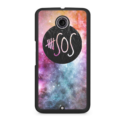 5 Seconds Of Summer Galaxy Logo Nexus 6 Case