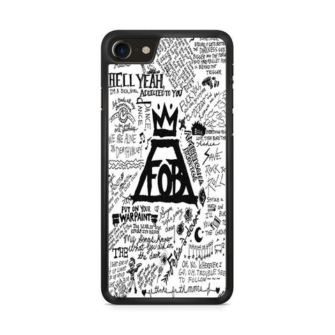 Fall Out Boy Tulisan Iphone 8 Case