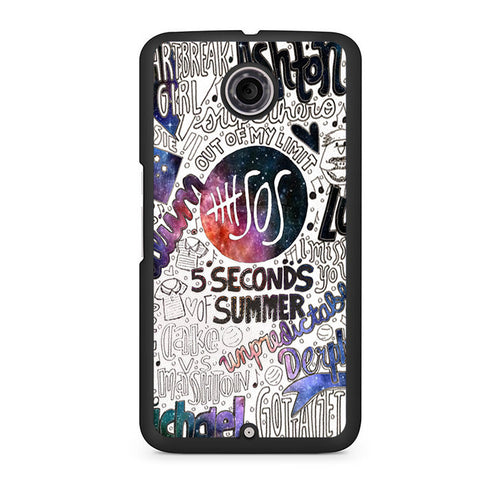 5 Seconds Of Summer Collage Lyric Nexus 6 Case