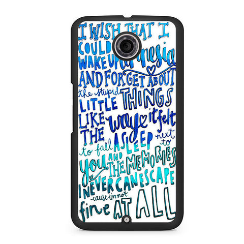 5 Seconds Of Summer Lyrics Amnesia Nexus 6 Case