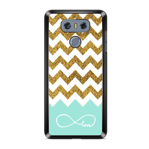 Love Infinity Gold Chevron LG G6 Case