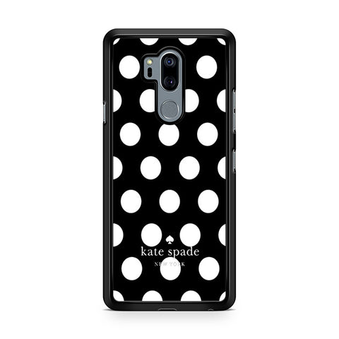 Kate Spade Black White Polka Dot LG G7 Thinq