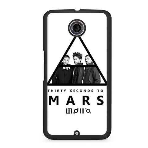 30 Seconds To Mars Black White Nexus 6 Case