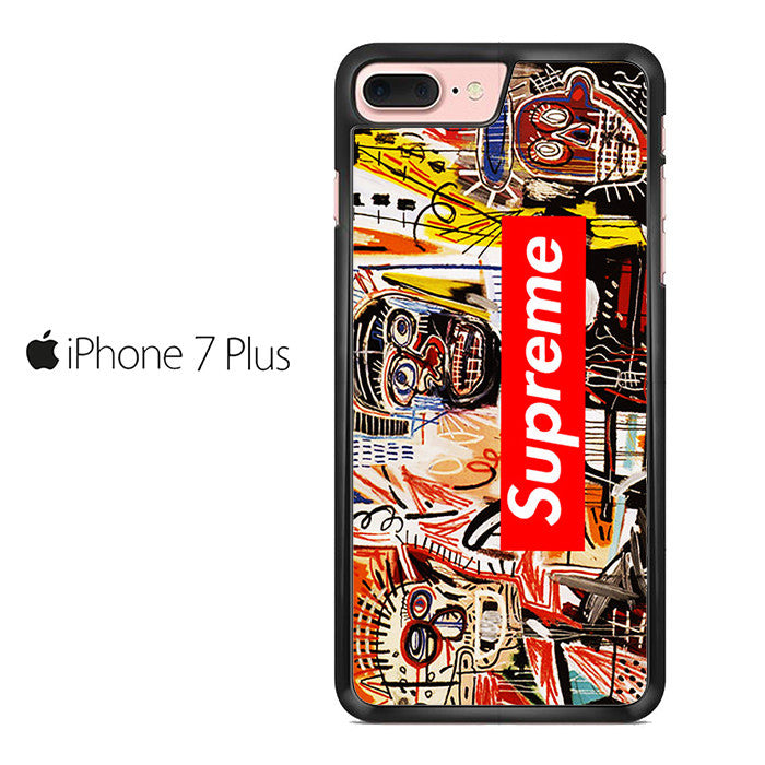 jean michel basquiat art supreme iphone 7 plus case comerch. Black Bedroom Furniture Sets. Home Design Ideas