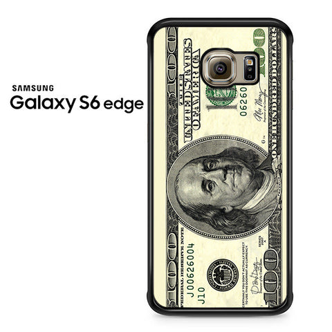 100 Dollars Samsung Galaxy S6 Edge Case