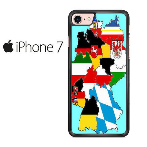A map Of Germany Iphone 7 Case