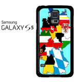 A Map Of Germany Samsung Galaxy S5 Case