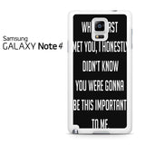 Best Friend Quote 2 Samsung Galaxy Note 4 Case