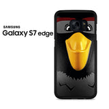 Black Angry Birds Face Samsung Galaxy S7 Edge Case