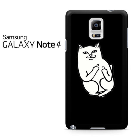 Black Cat Middle Finger Samsung Galaxy Note 4 Case
