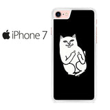 Black Cat Middle Finger Iphone 7 Case