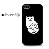 Black Cat Middle Finger Iphone 5 Iphone 5S Iphone SE Case