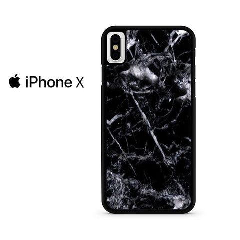 Black Marble White Iphone X Case