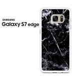 Black Marble White Samsung Galaxy S7 Edge Case
