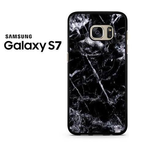 Black Marble White Samsung Galaxy S7 Case