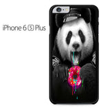 Black Panda Donut Iphone 6 Plus Iphone 6S Plus Case