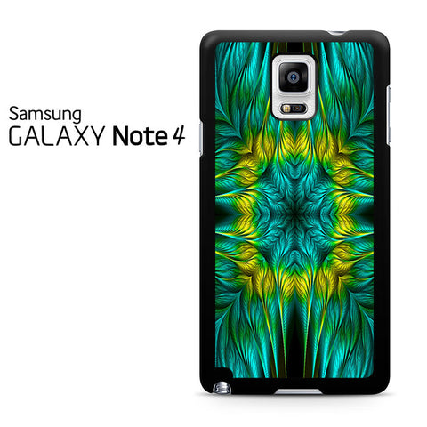 Blue Green Yellow Design Samsung Galaxy Note 4 Case