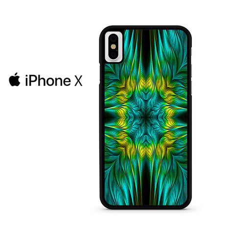 Blue Green Yellow Design Iphone X Case